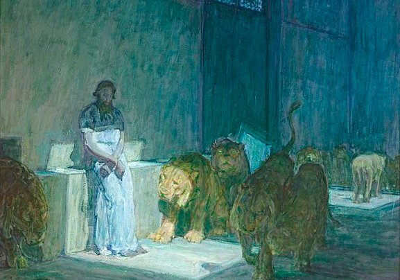 Daniel and the Lion's Den, by Henry Ossawa Tanner, 1907, now in the Los Angeles County Museum of Art