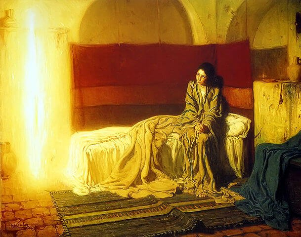 The Annunciation, 1898. By Henry Ossawa Tanner. Public Domain, https://commons.wikimedia.org/w/index.php?curid=4864374. Located at the Philadelphia Museum of Art.