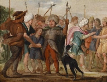 Depiction of Joseph being sold by his brothers, by Adriaen van Nieulandt