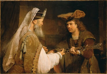 """Ahimelech Giving the Sword of Goliath to David"" by Aert de Gelder"