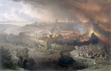 The Siege and Destruction of Jerusalem by the Romans Under the Command of Titus, by David Roberts