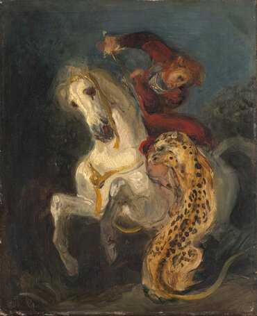 Rider Attacked by a Jaguar, by Eugène Delacroix
