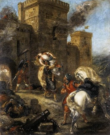 The Abduction of Rebecca, by Eugène Delacroix