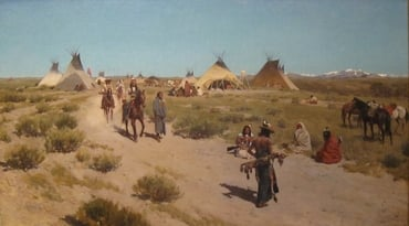 """Hunting Camp on the Plains"" by Henry Farny"
