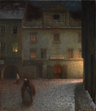 Evening Street, by Jakub Schikaneder