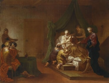 Jacob blessing the sons of Joseph, by Januarius Zick