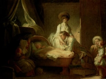 Visit at the Nursery, by Jean-Honor� Fragonard