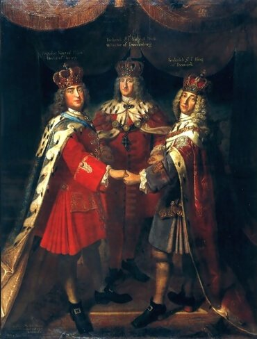 Meeting of three kings in Potsdam and Charlottenburg, 1709, by Samuel Theodor Gericke