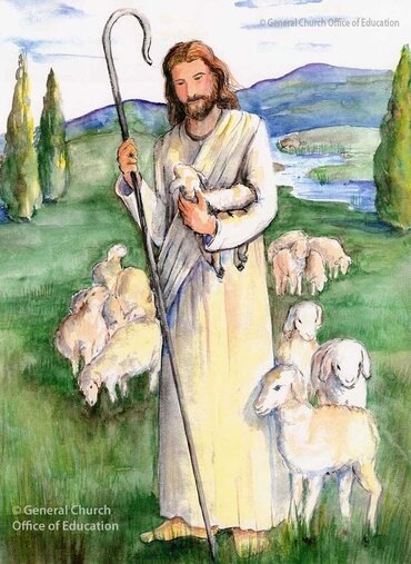 The Lord pictured as a shepherd, from the Vineyard Educator's Collection.