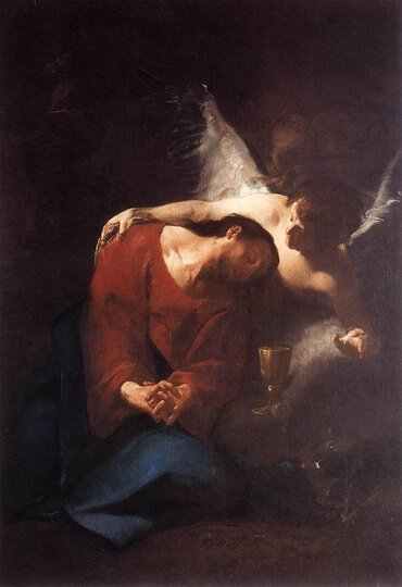 Christ Comforted by an Angel, by Paul Troger