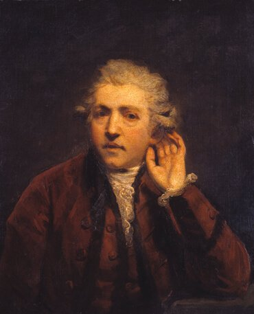 Self-Portrait as a Deaf Man, by Joshua Reynolds