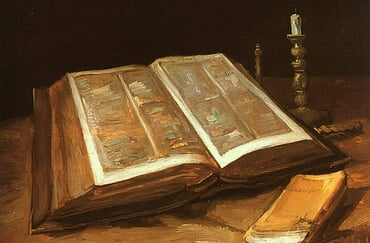 """Still life with Bible"", by Vincent van Gogh"