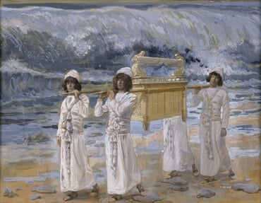 The Ark Passes Over the Jordan by James Jacques Joseph Tissot