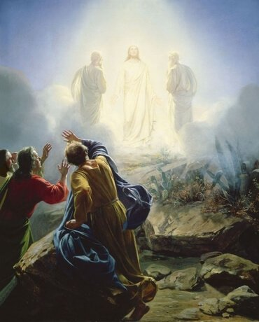 Transfiguration of Jesus by Carl Bloch