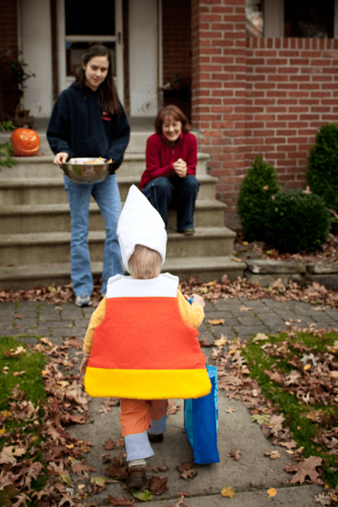 A piece of candy comes trick-or-treating.